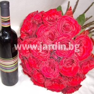 A Bouquet of Roses and Red Wine
