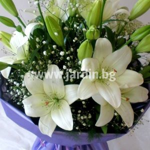 Bouquet Lilies in White