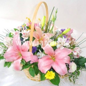 Basket with lilies Innocence