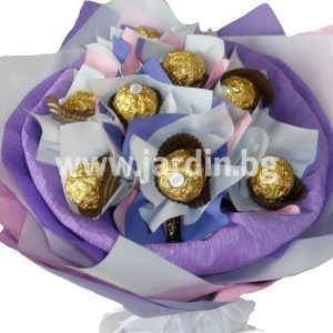 Bouquet of candies Purple gamma