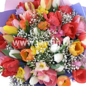 """bouquet of tulips """"Ribbons of Love"""""""