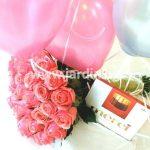 Рози, балони и бонбони