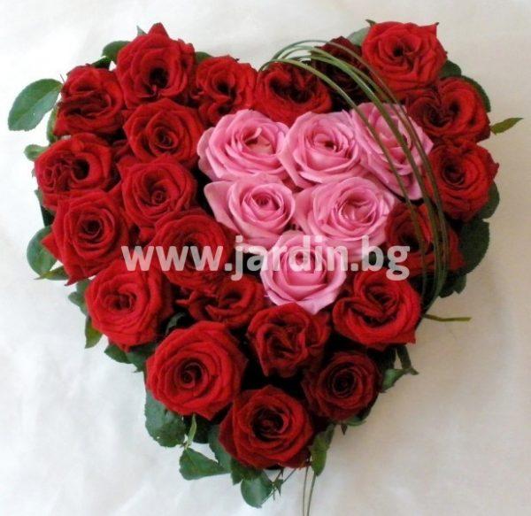 аранжимент с рози