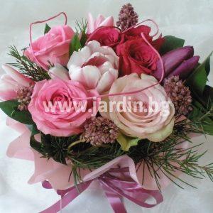 аранжимент розови рози