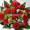 букет червени рози №23
