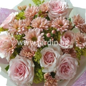 "bouquet ""roses and chrysanthemums' №1"