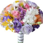 """bouquet """"pink roses, alstromeria and more …"""""""