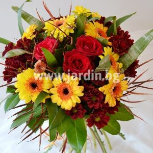 "bouquet ""roses and gerberas"""