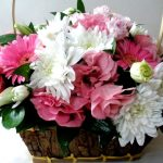 "Basket ""eustoma and gerberas"""