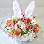 Flowers Arrangement and bunny