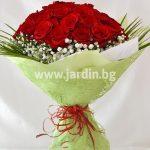 """букет червени рози """"Лагуна"""""""