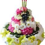 Торта от цветя 21