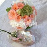 wedding bouquet  hydrangea and roses