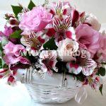 """basket  """"alstromeria and eustoma"""""""