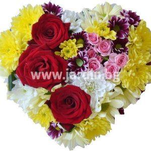Сърце с рози №11