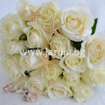 Букет бели рози  №7