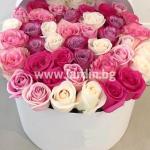 Цветни рози в кутия №7