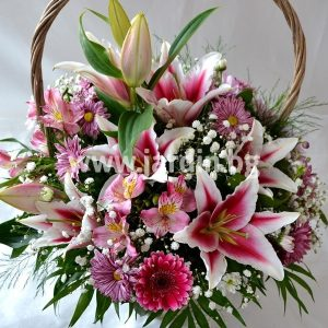 "Basket with lilies ""Shine"""