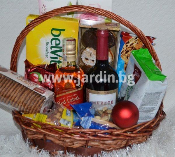 Поздравителна кошница с напитки