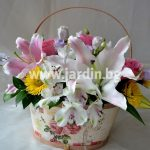 "Flower basket ""Romantic"""