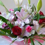 Bouquet lilies and roses №2