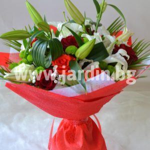 Bouquet lilies and roses №3