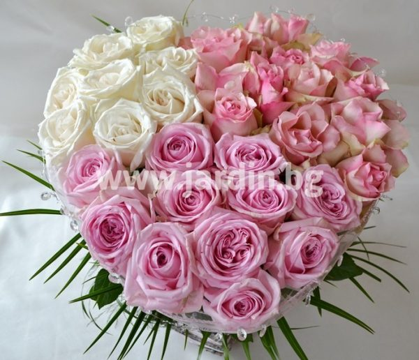 Сърце с рози №12