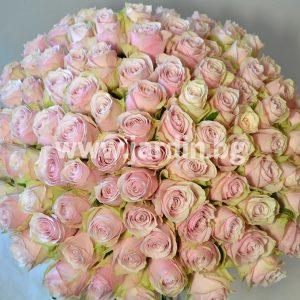 Букет розовых роз №5