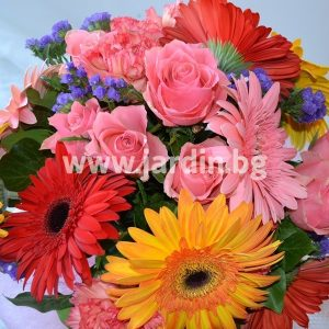 "Bouquet  ""Roses and Gerberas"" №2"