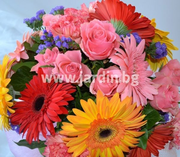 """Bouquet  """"Roses and Gerberas"""" №2"""
