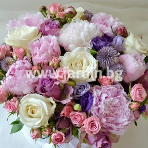Peonies and roses in  box №4