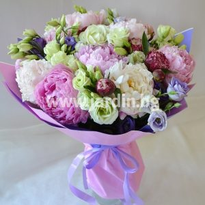 Bouquet Peonies and Eustoma