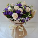 Bouquet Eustoma and Roses №1