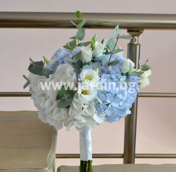 Bridal bouquet with hydrangea