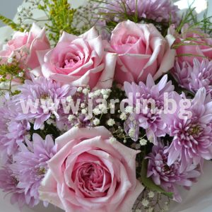 Букет рози и хризантеми №5