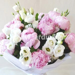 Bouquet Peonies and Eustoma №2