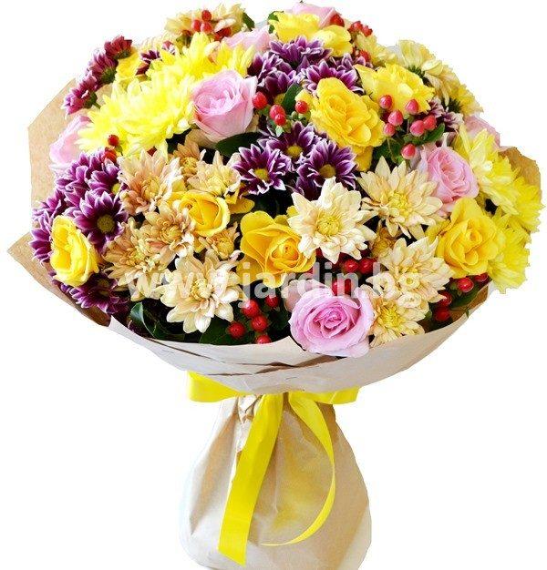 Букет рози и хризантеми №6