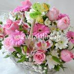 """кошница """"розови рози""""№4"""