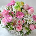 "basket ""pink roses"" №4"