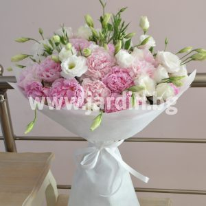 Bouquet Peonies and Eustoma №3