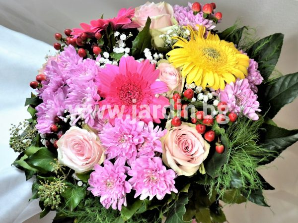 Bouquet roses and chrysanthemums №7