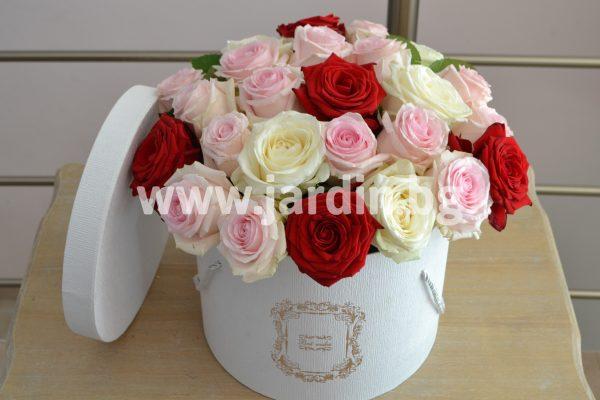 Рози в кутия №21