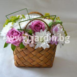 Корзина с цветами №2