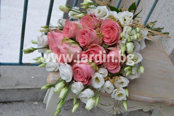 Букет Еустома и Рози  №4