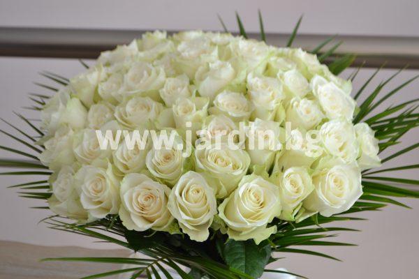 Букет Бели Рози №9