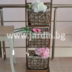 Shelf with baskets