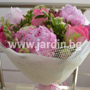 Букет Божури и Рози №7