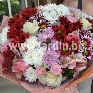Букет роз и хризантем №3