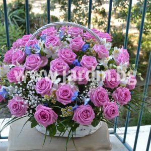Корзина Розовых Роз №2