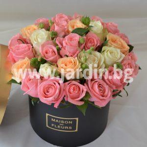 Розы в коробке №29